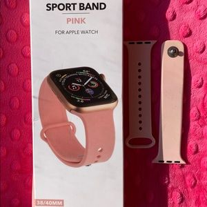 Apple Watch light pink sports band
